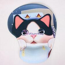 Cat Comfort Wrist Gel Rest Support Mat Mouse Mice Pad Computer PC Laptop Soft