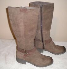 New Women Rockport Cobb Hill Britney-Ch Brown Leather Harness Boot sz 7 M