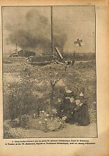 Obus Artillery Deutsches Heer Red Cross British Army Front WWI 1917 ILLUSTRATION