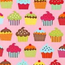 FQ Robert Kaufman Confections, cupcakes, fairycakes 100% Cotton Fabric