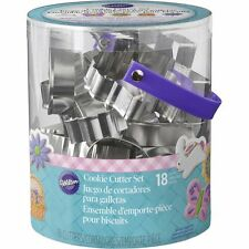 Wilton EASTER METAL COOKIE CUTTER TUB SET of 18 Pastry Cutters NEW RELEASE~