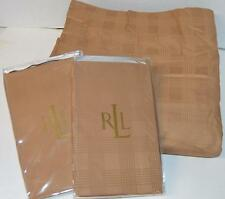 RALPH LAUREN Glen Plaid Suite Camel QUEEN DUVET COVER  & 2 SHAMS NEW
