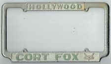 1950's Hollywood California Cort Fox Ford Vintage Dealer License Plate Frame
