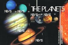 Planets of the Solar System Space Stamp Sheet (Sun/Mars/Jupiter/Saturn/Neptune)