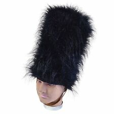 Black Royal Queens Guard Soldier Military Bearskin Fancy Dress Costume Hat BH555