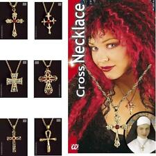 Ladies Necklace With Crucifix Cross Witch Vampiress Halloween Fancy Dress