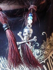 Nordic/Biker Jolly Roger Skull and Crossbones Barba Joyas
