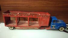 Vintage Buddy L The Wild Animal Circus On Wheels Toy Truck And Trailer