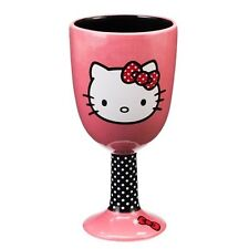 Hello Kitty Face Art Image Two-Sided Ceramic Goblet, NEW UNUSED