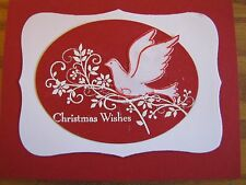 Christmas Wishes White Dove in red Handmade Card Kit Some Stampin Up 4 cards