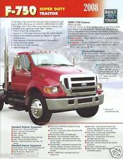 Truck Brochure - Ford - F-750 - Super Duty Tractor - 2008 (T1267)