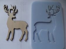 Stag Reindeer Christmas Xmas Cake Silicone Mould Very Large
