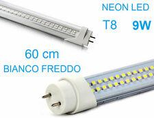 Tubo Neon con LED. 60cm 9W T8. Luce bianca fredda.Bianco freddo,60, T 8 .6000K