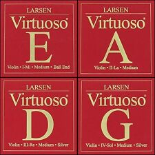 Larsen Virtuoso Violin String Set (E-Ball A D G) Medium Tension 4/4 Full Size