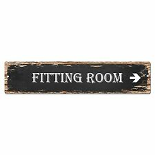 SP0123 Fitting Room Street Plate Sign Bar Store Cafe Kitchen Chic Decor