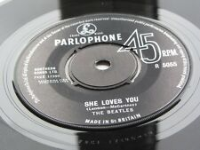 THE BEATLES ORIGINAL  1963 U.K  SHE LOVES YOU  45  EXCELLENT PLUS