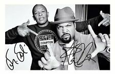 DR DRE & ICE CUBE AUTOGRAPHED SIGNED A4 PP POSTER PHOTO