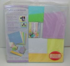 New Textured Cardstock Assorted Pastel Colors Textured Pads w/125 Sheets