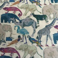 QUEUE FOR THE ZOO ( G) by LIBERTY 1.80 MTRS  PRINTED ON LIBERTY TANA LAWN