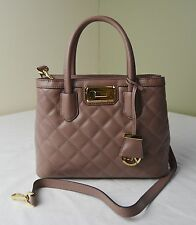 Michael Kors Dusty Rose Quilted Leather Hannah Small Satchel