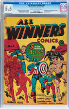 All Winners Comics #1 CGC 5.5 Timely 1941 Captain America Sub-mariner E5 121 cm