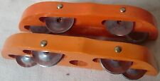 INDIAN HINDU RELIGIOUS PERCUSSION INSTRUMENT WOODEN HANDMADE KHARTALS CLAPPERS