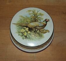 VINTAGE RILEY'S TOFFEE TIN RING NECK PHEASANT RILEY BROTHERS HALIFAX ENGLAND