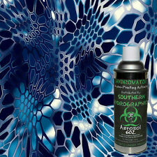 HYDROGRAPHIC FILM WATER TRANSFER HYDRO DIP 6OZ. ACTIVATOR W/ BLUE HEX DIP KIT