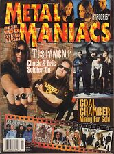 Metal Maniacs November 1999 Testament, Coal Chamber, InFlames VG 070816DBE