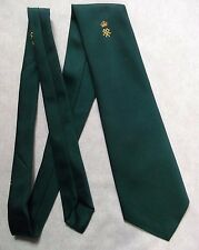 CROWN CREST EMBLEM TIE VINTAGE RETRO GREEN GOLD CLUB ASSOCIATION ERNEX LONDON