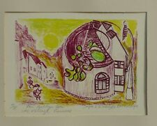 PAUL HOLSBY (1921-2007) LITHOGRAPHIE HANDSIGNIERT 41/75