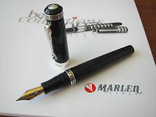 Marlen Odyseus Black Fine steel nib fountain pen MIB