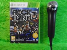 xbox 360 ROCK BAND 3 + 1 Logitech ROCKBAND Mic Microphone Microsoft PAL UK