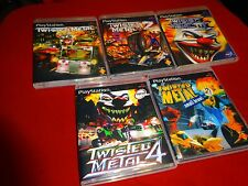 EMPTY Replacement CASES - TWISTED METAL 1 2 3 4 5 Collection PLAYSTATION 1 PS1
