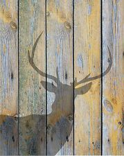 Gray Muted Colors Home Decor Deer Shadow Wall Art Photo Print Matted Picture