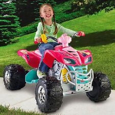 Girls ATV 4 Wheeler Barbie Ride On Battery Powered Quad 12 Volt Electric Toy Kid