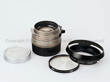 Leica Leitz 35mm f/1.4 Summilux-M Titanium 35/1.4 + 12504 Hood + Filter + Caps