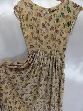 Vintage Jonathon Logan 1940s DRESS~SILK PARTY wSEQUINS A-LINE Cocktail 34B 23W