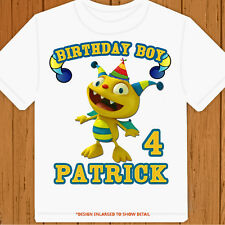 Henry Hugglemonster tee - Personalized Pick Name/Age - Birthday T-Shirt Party