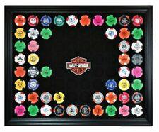 Made in USA 6925 Holds 28 Chips Harley-Davidson Poker Chip Collectors Frame