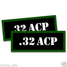 ".32 ACP Ammo Can 2x Labels for Ammunition Case 3""x1.15"" stickers decals 2pack"