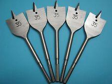 Machine Flat Wood Drill Bit 35mm x 5 - Flat Head Bit Cutter 35mm