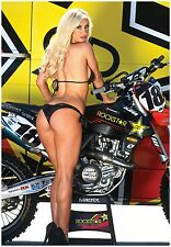ROCKSTAR KTM RACE BIKE w/ PIN UP GIRL GIANT POSTER 450sx  dirtbike metal mulisha