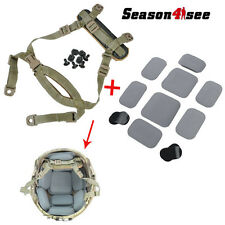 Tactical Airsoft MICH Helmet Retention System Chin Strap Protective Spacer Pads