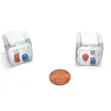 Set of 2 Six Sided 25mm D6 6 3 In A Cube Triple Dice Die RPG D&D Board Game