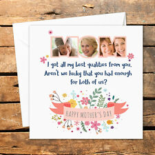 Handmade Personalised Happy Birthday Christmas Mothers Day Card Photo Nan Mom