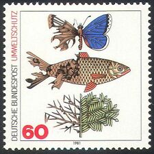 Germany 1981 Butterfly/Fish/Tree/Environment/Pollution/Conservation 1v (b5363)