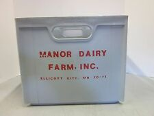 Vintage Manor Dairy Farms Milk Crate Howard County Ellicott City Maryland