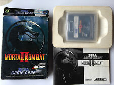 JEU SEGA GAME GEAR MORTAL KOMBAT II