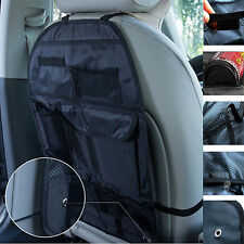 Black Auto Car Seat Back Cover Pouch Organizer Holder Multi-Pockets Storage Bag